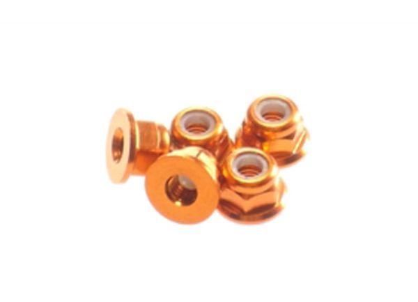 3mm Alu Sicherungsmutter Flansch Orange (5)