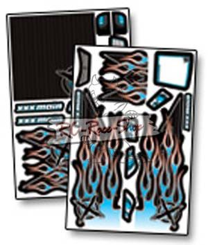 Dekorbogen X-Wrapz IGNITE Monster blau