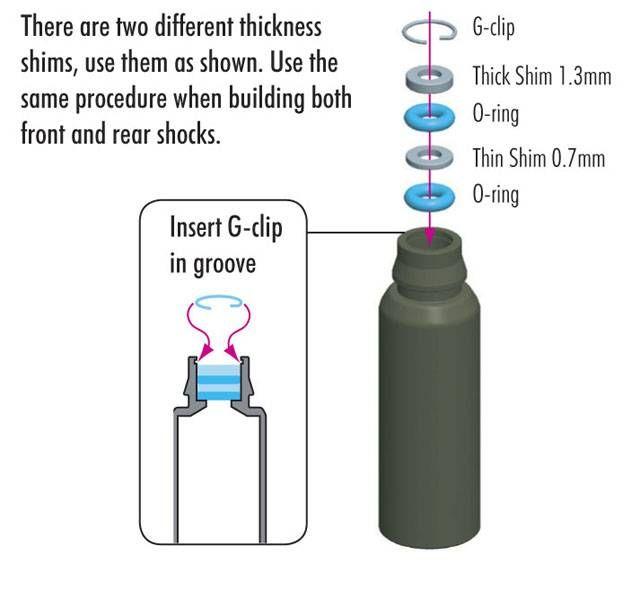 Beilegescheibe für Dämpfer (0,7mm, 1,3mm), Kunststoff
