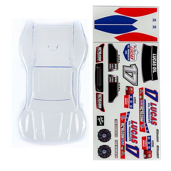 SC28 Body clear with Lucas Oil decals