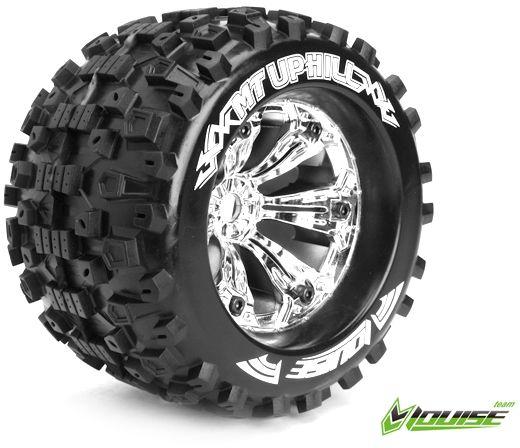 """3,8"""" Wheels Uphill Monster Truck chrome 1/2 Offset 17mm (2)"""