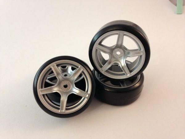1:10 Drifträder S5 silber Pro Drift Full Slick 3mm (4)