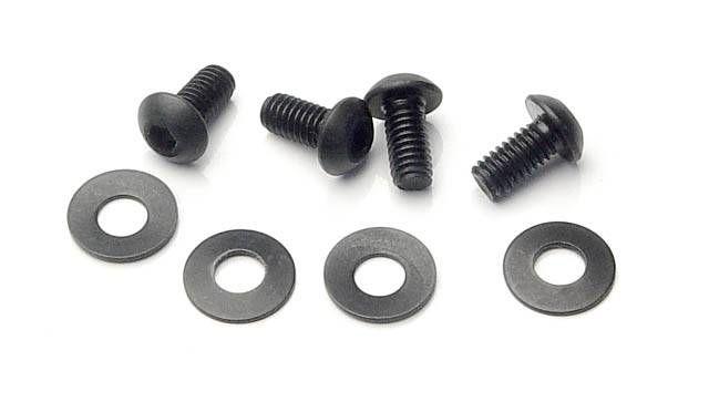 Schrauben und Unterlegscheiben zur Radbefestigung, klein