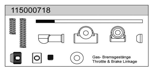 Gas-/Bremsgestänge X8 - T08618