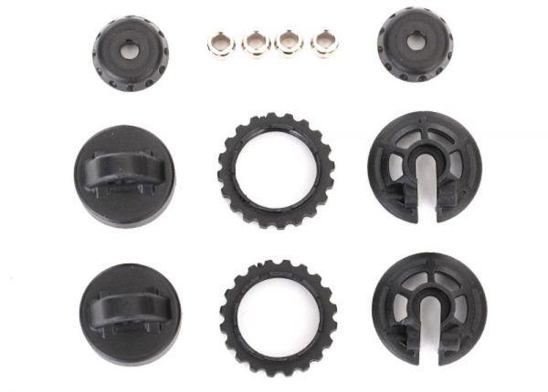 Caps & spring retainers GTR shock (upper cap (2)/ hollow balls (4)/ bottom  cap (2)/ upper retainer (2)/ lower retainer (2)
