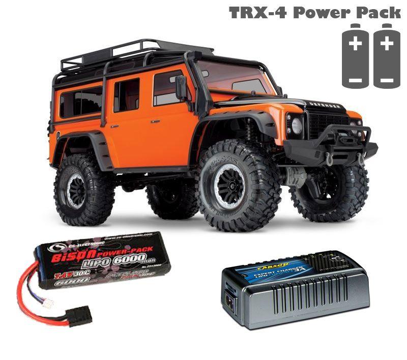 TRX-4 Land Rover orange 1:10 100% RTR Power Pack