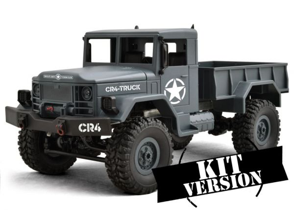 1:16 4WD CR4-Truck grau/blau Bausatz