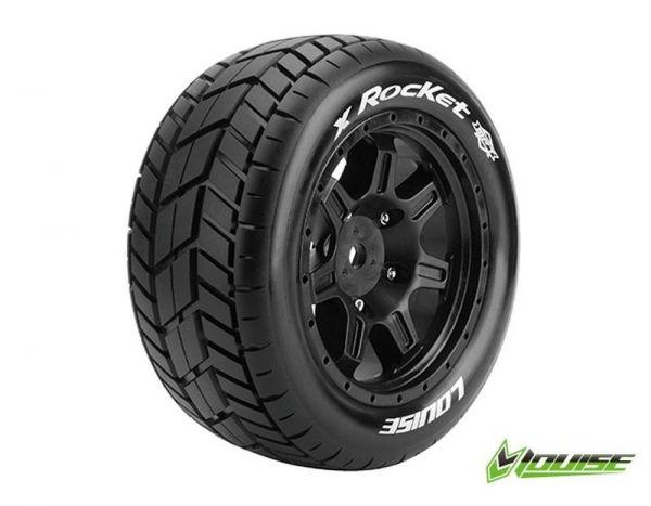 X-Maxx X-Rocket MFT 24mm Tires/Wheels (2)