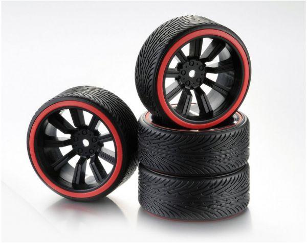 1:10 Wheel Set Drift 9-Spoke B red (4)