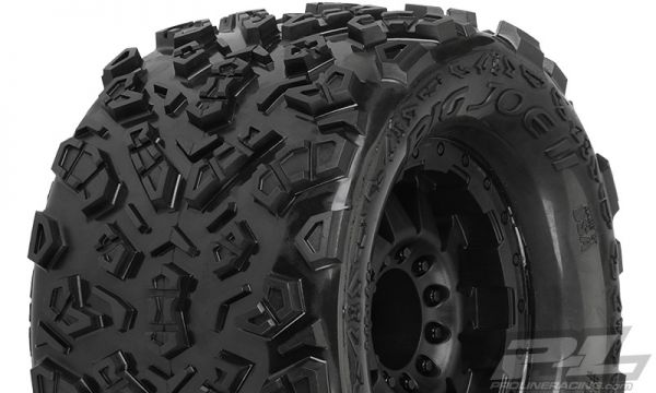 Big Joe II 3.8'' Tires Mounted F-11 Black 1/2 Offset 17mm Wheels (2)