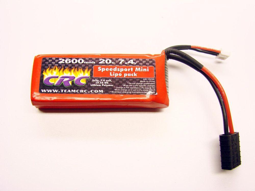1/16 Traxxas LiPo 7,4V/2600/20C