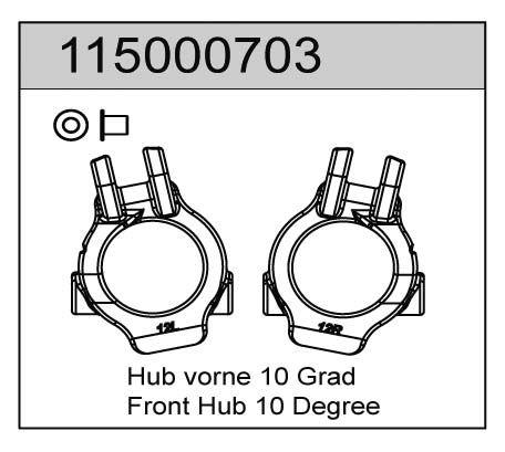 Hub vorne 12 Grad (2) X8 - T08603