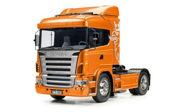 1:14 RC Scania R470 4x2 Orange metallic vorlackiert Bausatz