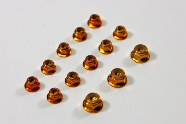 Alu.-Stop Mutter Set gold (13) X8 - TU0860G