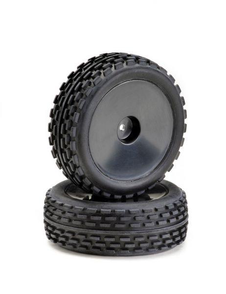 Räderset Buggy Disc Offroad vorne schwarz 1:10 (2)