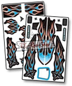 Dekorbogen X-Wrapz IGNITE 1/8 Buggy blau