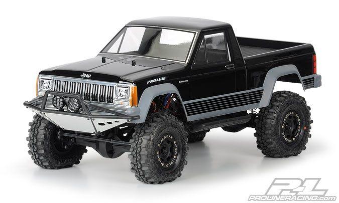 karosserie crawler jeep comanche full bed klar 1 10. Black Bedroom Furniture Sets. Home Design Ideas