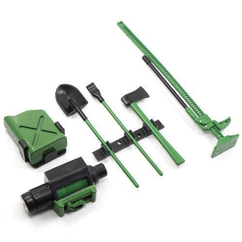 1:10 Plastik Werkzeugsatz für Crawler grün