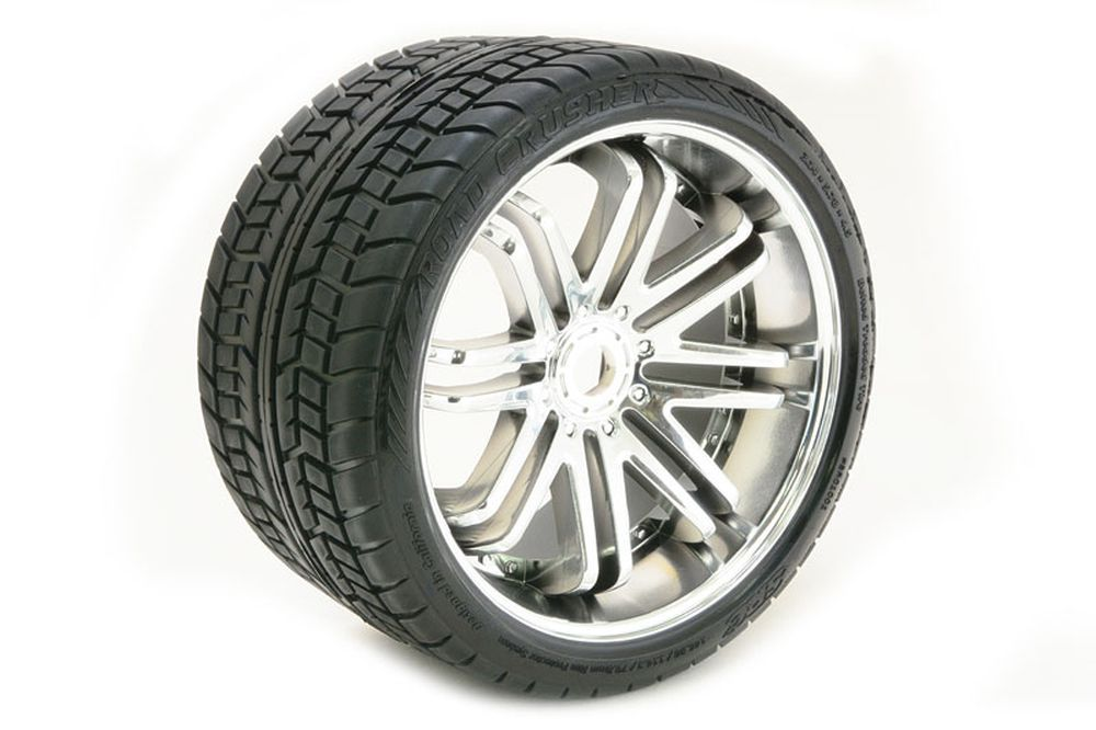 1:8 Road Tires Black Wheels chrome (2)