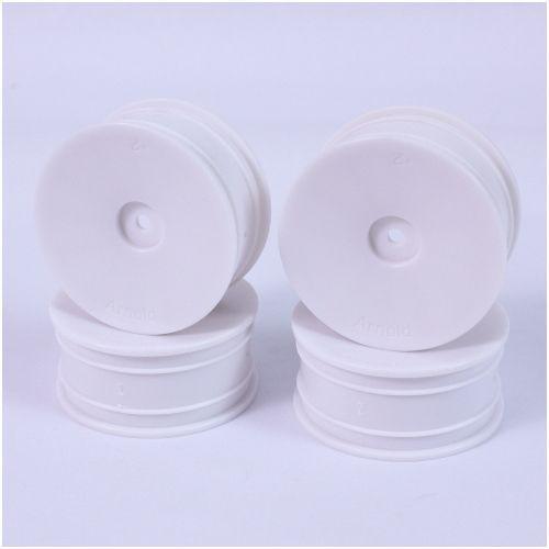 1:10 Dish-Felgen 24mm/2mm (4) weiss