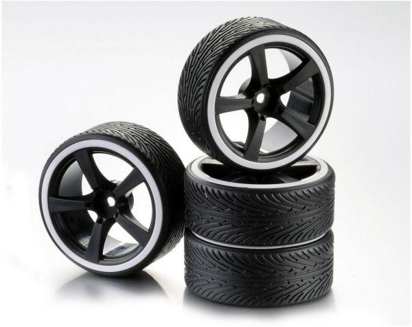 1:10 Wheel Set Drift 5-Spoke B white (4)