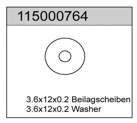 Beilagscheiben 0.2 (6) X8 - T08668