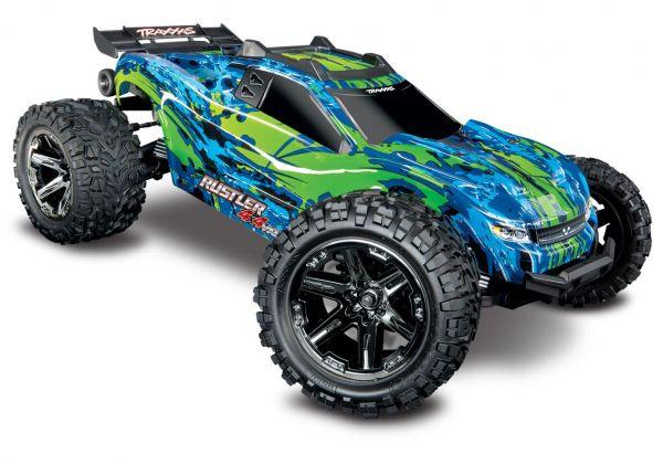 Rustler 4x4 VXL grün/blau 1:10 Stadium Truck RTR
