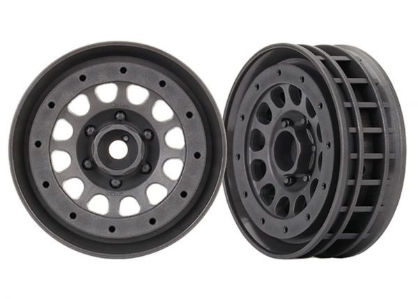 "Wheels, Method 105 1.9"" gray beadlock (2)"