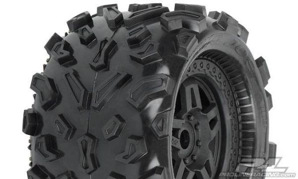 Big Joe 3.8'' (40 Series) All-Terrain Tires Mounted on Tech 5 Black Wheels (2)