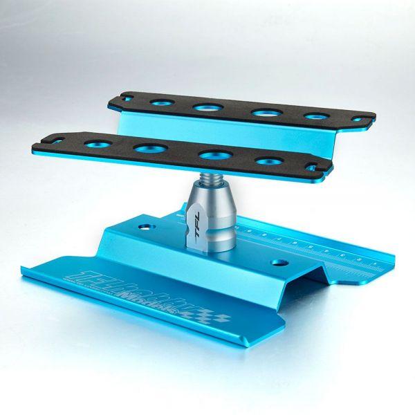 Auto Montagestand 1:10 drehbar blau eloxiert