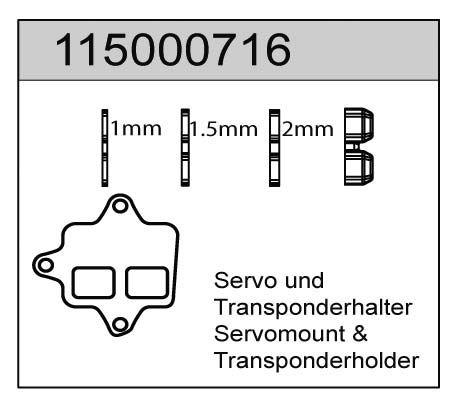 Servo-, Transponderhalter X8 - T08616