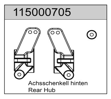 Achsschenkel hinten (2) X8 - T08605