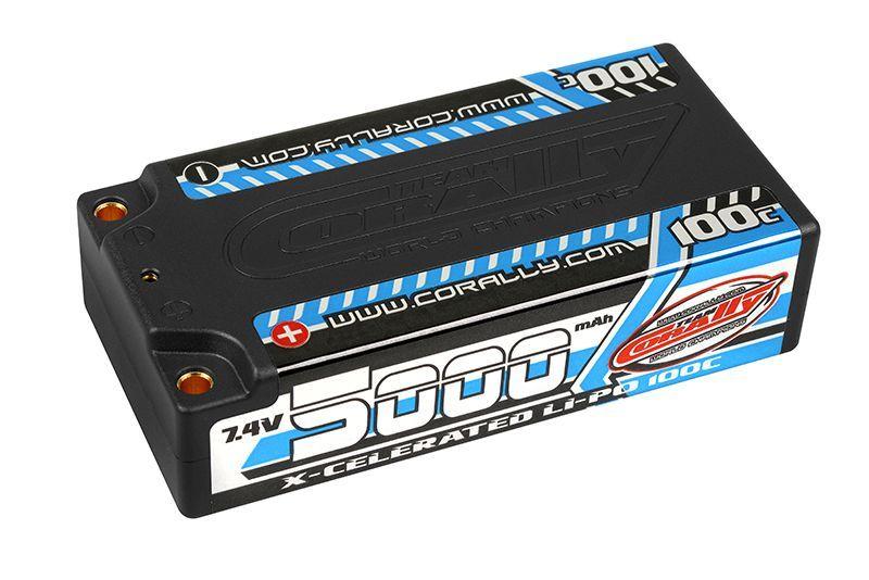 LiPo shorty 7,4V/5000/100C 4mm