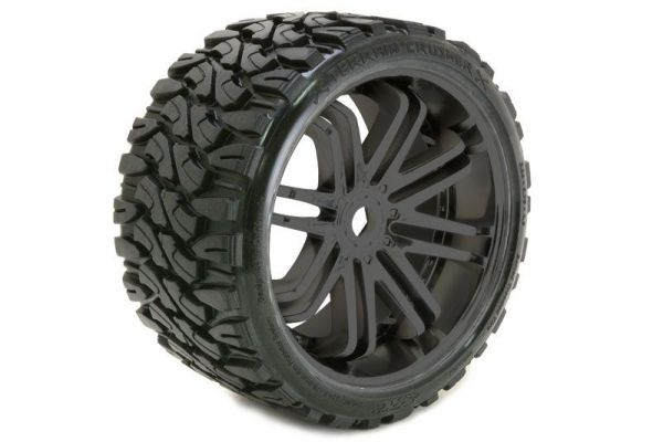 1:8 Terrain Tires Black Wheels Belted (2)