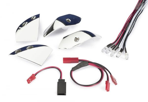 Lichteinsätze mit LED Set für Karosserie chrom