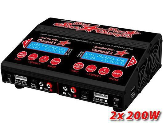 Dual-Star PRO Charger 2x200W Ladegerät 12/230V