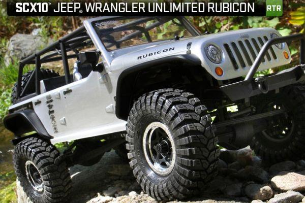 SCX10 2012 Jeep Wrangler Unlimited Rubicon RTR - klare Karosserie
