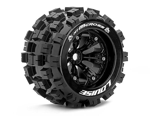 """3,8"""" Wheels MCross Monster Truck 0 Offset 17mm (2)"""