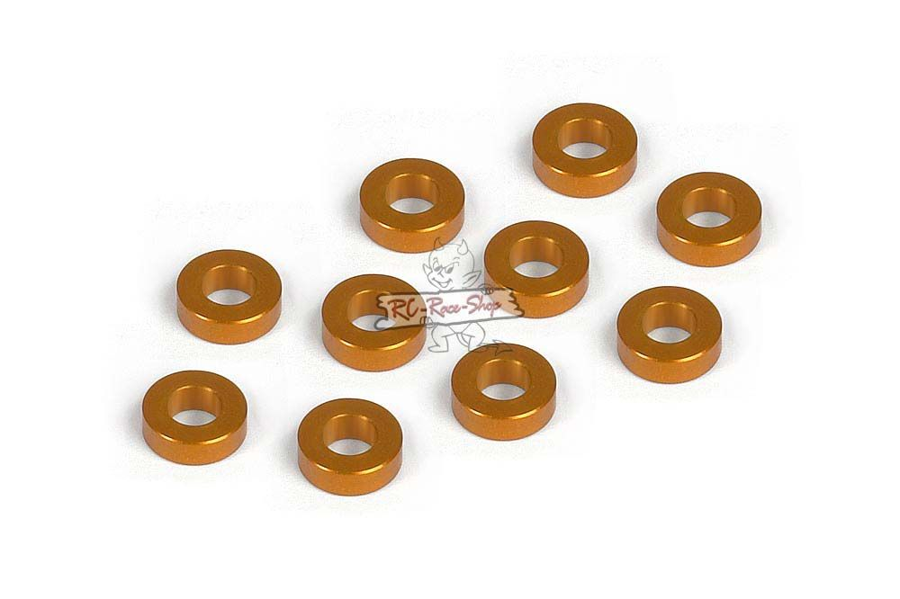 Unterlegscheibe 3mm x 6mm x 2,0mm, Alu Orange