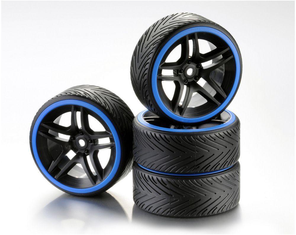1:10 Wheel Set Drift 10-Spoke A blau (4)