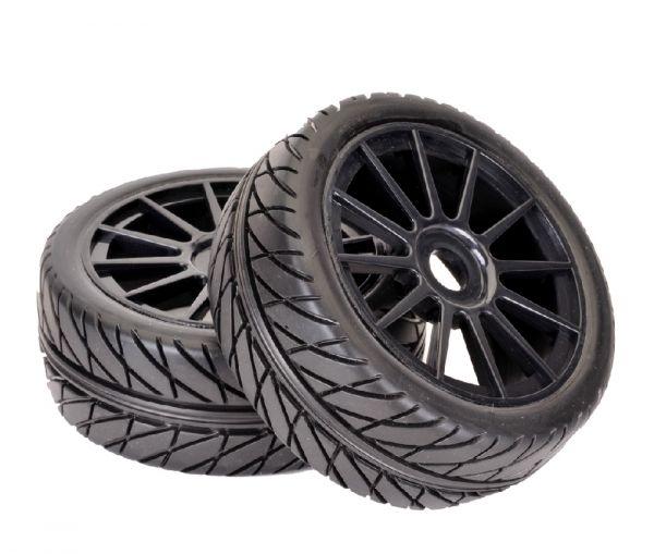 Räderset ''RA Racing Rally'' Profil/schwarz 1/8 (2 St.)