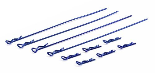 FT Body Clips, metallic blue. 4 long, 6 short. (10)
