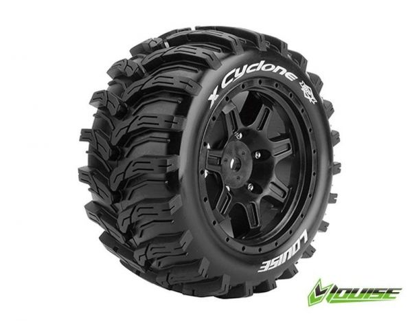 X-Maxx X-Cyclone MFT 24mm Tires/Wheels (2)