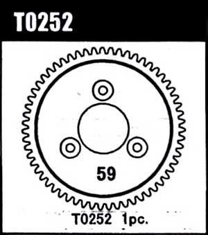 1ST. GEAR 59T (MODUL 0.8)