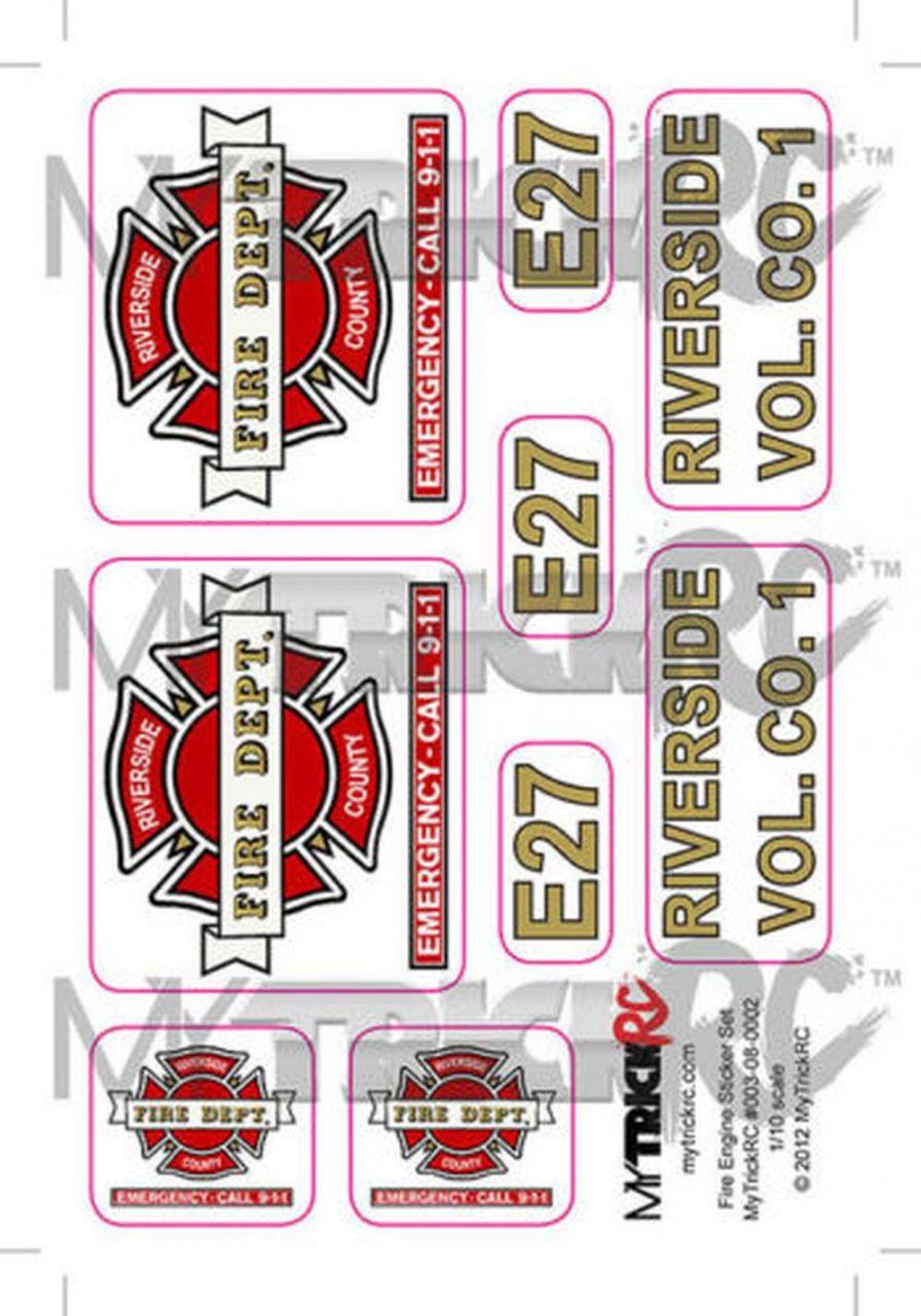 1:10 RC Feuerwehr Dekorbogen