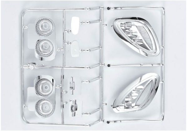 "Corvette GT2 ""1/7"", Chrome parts (mirrors, etc.)"