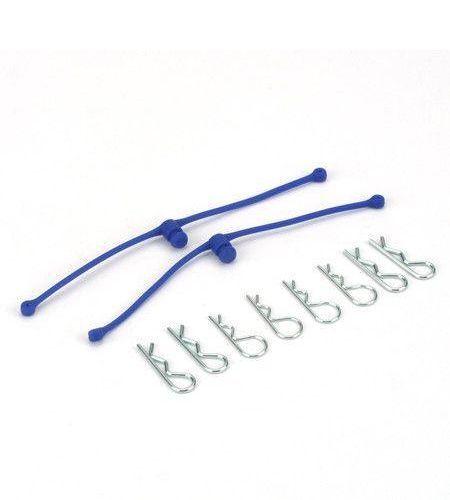 Karosserie-Clips mit Halter blau