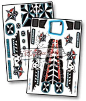 Dekorbogen X-Wrapz DARKSTAR 1/8 Buggy blau
