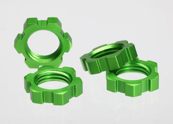 Wheel nuts splined 17mm green (4)