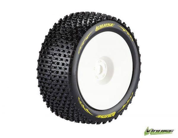 1:8 Truggy Komplettrad T-Pirate soft weiß Disc (2)